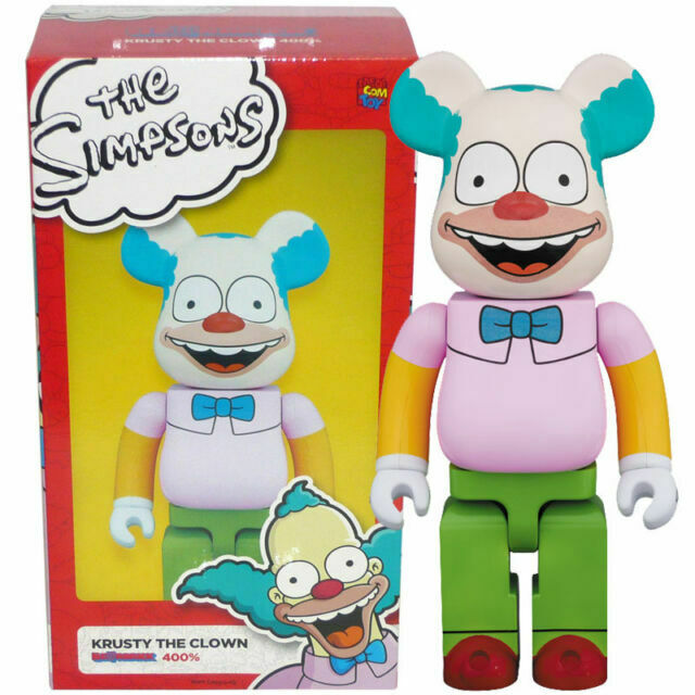 2017 Medicom Be@rbrick 400/% The Simpsons Krusty The Clown Bearbrick