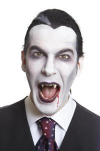 Détails sur Kit deguisement HOMME vampire halloween accessoire maquillage  sang crocs dracula