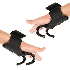 Strong Pro Weight Lifting Training Gym Hook Grip Strap Wrist Support Perfect