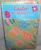Easter Vinyl Tablecloth 52 X 90 Oblong Decorated Easter Eggs