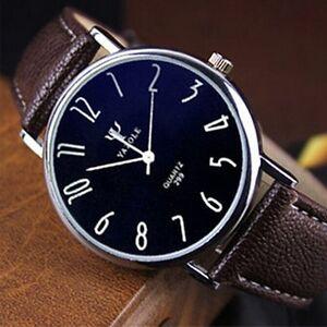 Fashion-Stainless-Steel-Leather-Men-039-s-Sport-Military-Analog-Quartz-Wrist-Watch