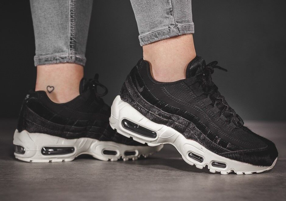 Nike Women's Air Max 95 LX LX LX AA1103-001 Black Sail PONY HAIR Leather 97 98 sz 10 5e20ab