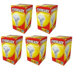 5x Eveready Eco Halogen R50 Reflector Light Bulb 30w = 40w SES E14 Small Screw