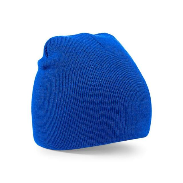 76b21b3ab98 Adults Original Pull on Beanie Hat Plain Mens Womens Beechfield Bb44 ...