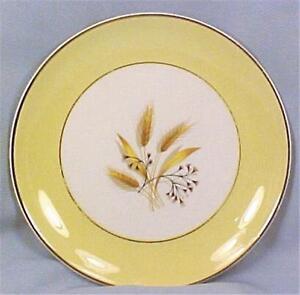Autumn-Gold-Salad-Plate-Wheat-Century-Service-Corp-Retro-Vintage-Mid-Century