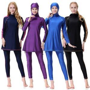 b591397a7e Image is loading Muslim-Swimwear-Hijab-Muslimah-Islamic-Swimsuit-Full-Cover-