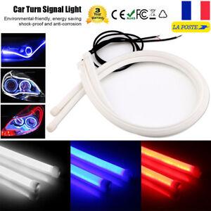 60cm-24-LED-Bande-Tube-souple-Phare-Feux-De-Jour-Lumiere-Lampe-Clignotant
