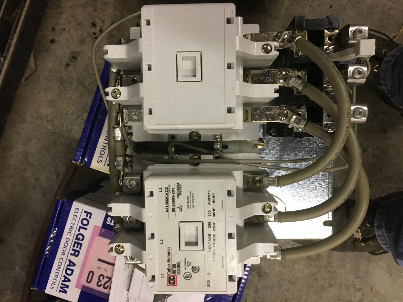 Cutler Hammer Reverseable Motor Starter A210M3CAC 25HP 200V 30HP 230V 50HP 460V