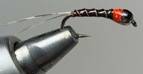 Dark Brown Perdigon Fly 4 Flies