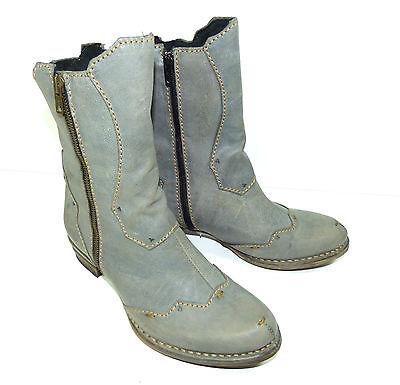 Rovers Stiefelette Halbschuh Gr bisher 179,90 39 grau Boots Leder neu