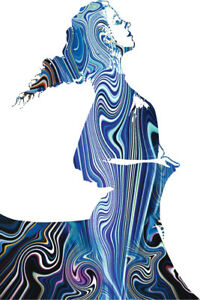 Psychedelic-Woman-Dancing-Art-Print-Poster-12x18-inch