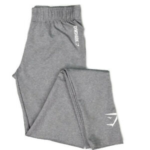 New-Womens-GymShark-Gym-Shark-Ladies-Athletic-Gym-Pants-Leggings-Sweatpants-Grey