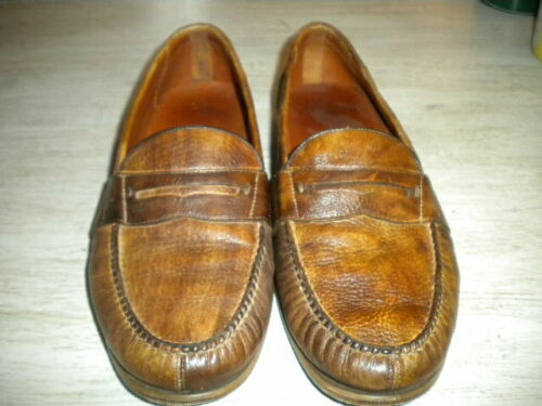 Alan Payne Brown Penny Loafers 9M