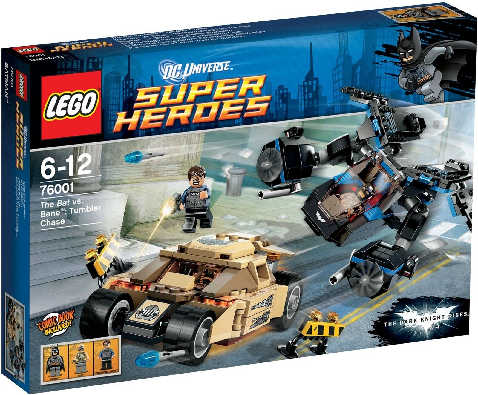 LEGO DC Comics  The Bat vs. Bane  Tumbler Chase  (76001) - NEW - BOX UNMARKED