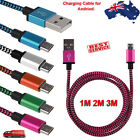 6/10ft Aluminum Braided Micro USB Data Sync Charger Cable Cord for Android Phone