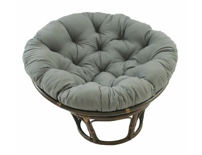 42 In Grey Bali Papasan Chair Cushion Lounge Furniture