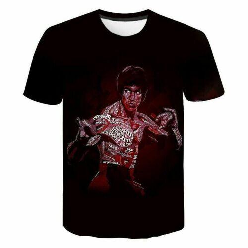 Arts Célébrité Bruce Lee 3D Print T-Shirt Women//Men/'s Casual à manches courtes