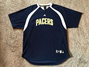 san francisco 5d3b8 b91f3 Details about Indiana Pacers Warm Up Shooting Jersey Stitched Adidas Sz XL  NBA Pullover EUC