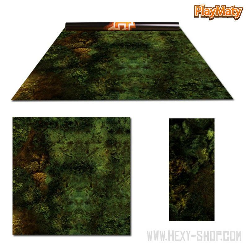 Orc Lands   Amethyst land – Double-Sided 48″ x 48″ Mat for Battle Games
