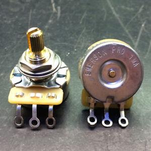 Emerson Pro Cts 1 Meg 1M 8% Tolerance Audio Taper Split shaft Potenziometro