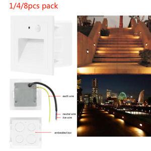 Image Is Loading 3W AC85 240V Motion Sensor Warm White LED