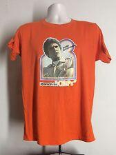 Vtg 1977 Erik Estrada Ponch In Chips Iron-On T-Shirt Orange M/L 70s TV Show