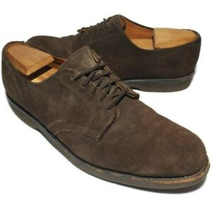 11 Oxford Shoes Suede Brown Lace Up