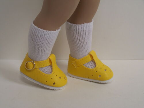 """DK YELLOW T-Strap Cut Out Doll Shoes For 10/"""" Ann Estelle Sophie Patsy Debs"""