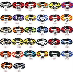 6ba54cb1 Details about NFL Survivor Paracord Bracelet Team Color Official Lot of 2 (  Pick Your Team )