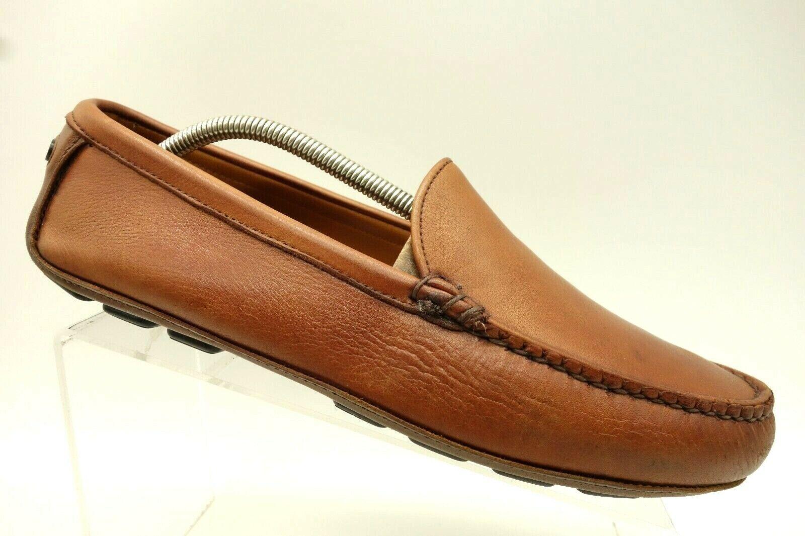 Allen Edmonds Castine USA Brown Leather Casual Driving Loafers Men's 10 D