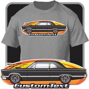 Custom Car Art T Shirt Inspired On 1966 1967 Ford Fairlane 427 2 Door Sedan Car Ebay