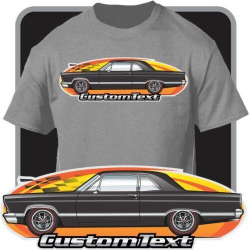 Custom Car Art T-shirt inspired on 1966 1967 Ford Fairlane 427 2-door Sedan Car