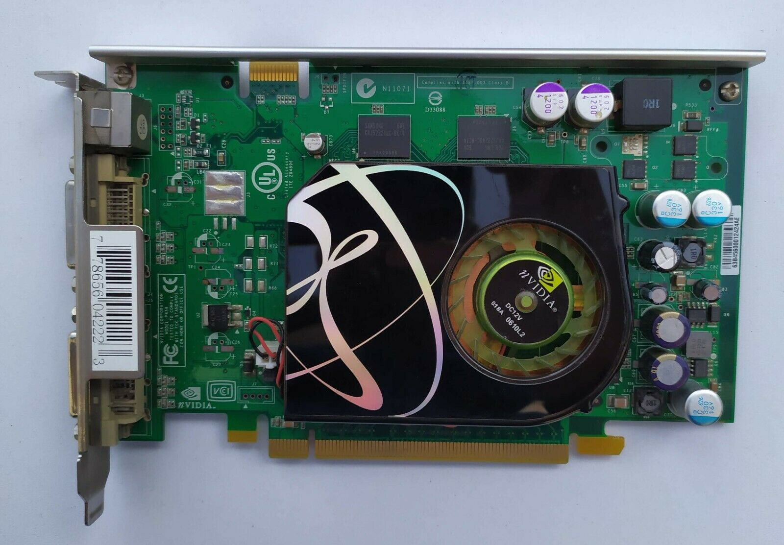 PC VGA Video Card NVIDIA GeForce 7600 GT 256mb ddr3 XFX