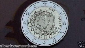 2 euro 2015 fdc ESTONIA 30 bandiera EU flag drapeau flagge Eesti Estonie Estland