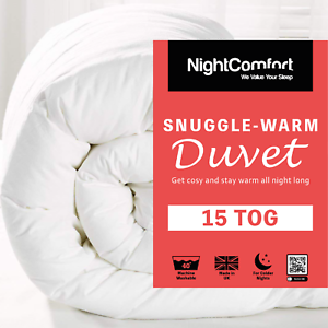 15-Tog-Duvet-Snuggle-Ultra-Warm-Winter-Duvet-Luxury-Single-Double-King-Size