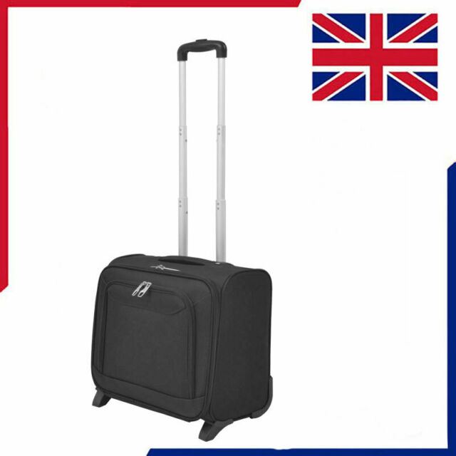 8324b8b50 Pilot Trolley Black Telescopic Handle Luggage Suitcase Travel Bag Case  Wheels