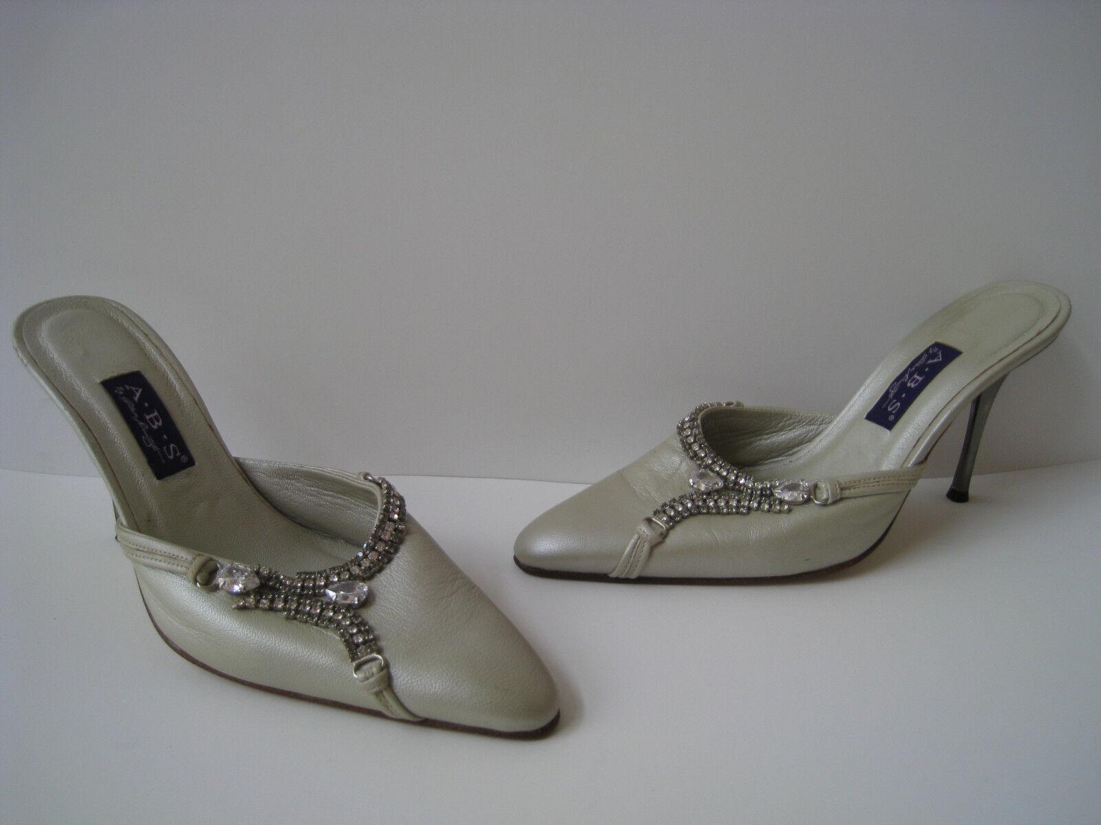 ABS Allen Allen Allen Schwartz gris Cuero Zapatos Stiletto Cristales Formal tamaño nos 8 EUR 38  bienvenido a orden