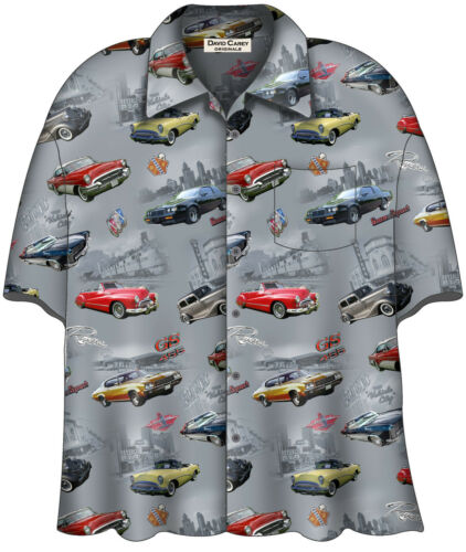 1950s Men's Clothing    Buick Classics Camp Shirt  Licensed by General Motors $48.00 AT vintagedancer.com