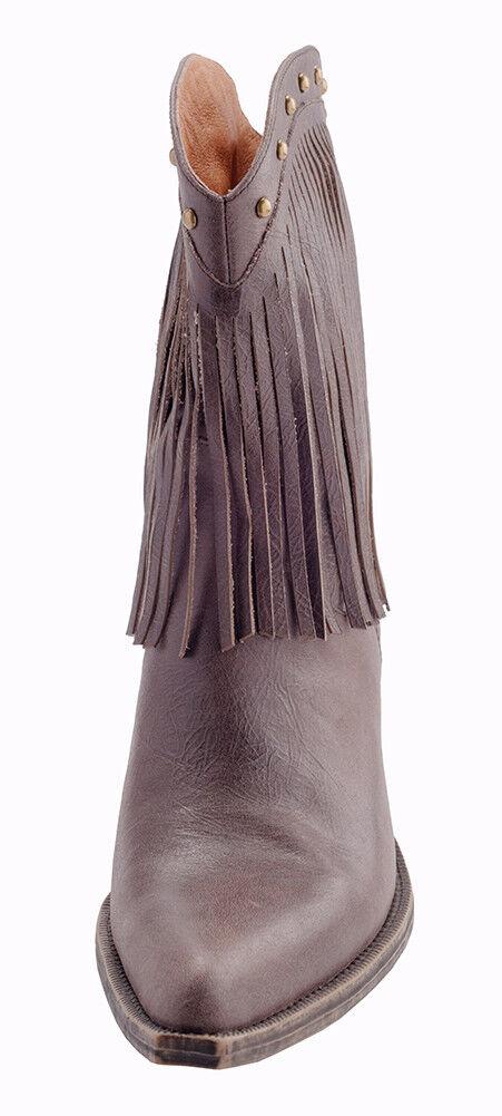 Brown Heeled Pelle Tassel Cowboy Heeled Brown Boot, Size 8.5, Brown Pelle Cowboy Stivali, f90c8f