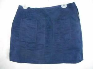396806c7f26 OLD NAVY Womens 2 Navy Blue Faux Suede Mini Skirt Lined Soft Side ...