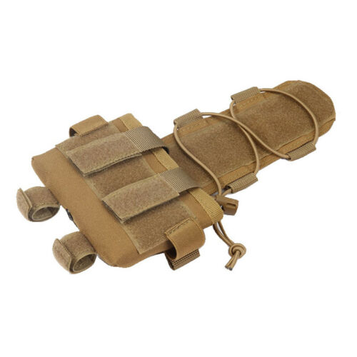 Tactical Hook Loop Battery Holder Counterweight Cover Case for MK2 FAST Helmet
