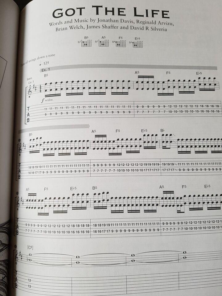 5 Guitar node/tabulatur bøger, emne: musik