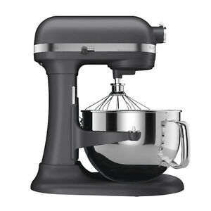 Details about KitchenAid RKP26M1Xdp Pro 600 Stand Mixer 6 qt Dark Pewter  Grey Super Large Capc