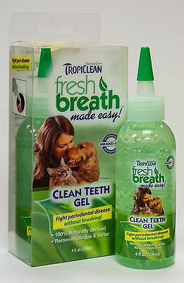 Tropiclean Fresh Breath Clean teeth gel holistic  Made in USA With BONUS