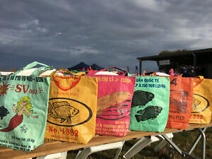Recycled-Budget-Tote-Bag-made-from-Fish-Feed-Bag-Handmade-in-Cambodia-Fair-Trade