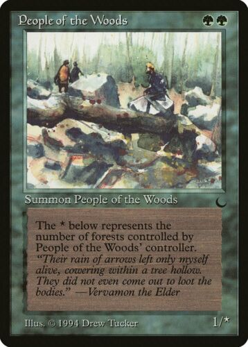 People of the Woods The Dark NM Green Uncommon MAGIC GATHERING CARD ABUGames