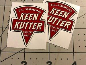 Keen-Kutter-E-C-Simmons-Decals-Axe-Tool-1-1-2-034-wide-Set-2