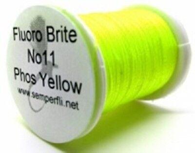 fly tying Semperfli Fluoro Brite Fluorescent Floss vivd attractive colour range