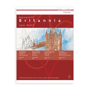 HAHNEMUHLE-Aquarellblock-Britannia-12Blatt-24-x-32-Aquarellpapier-Aquarellkarton