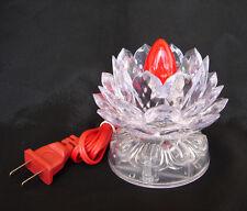 "3.75"" Chinese Asian Table Desk Altar Lotus Buddha Lamp Light"